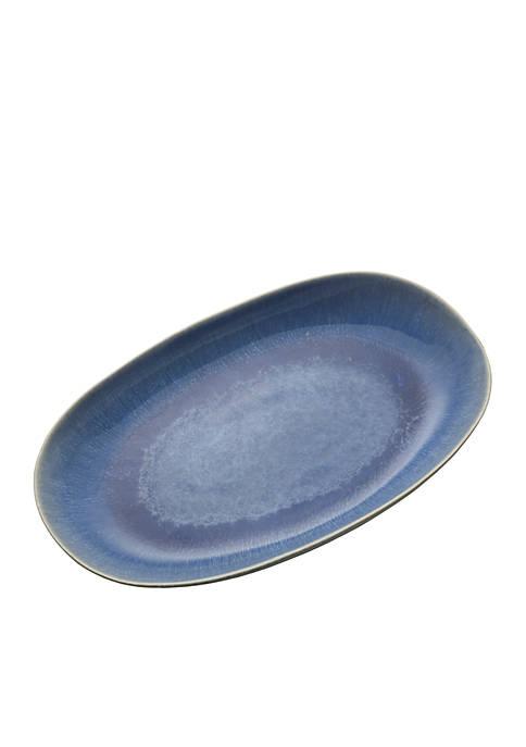 Aventura Blue Oval Platter