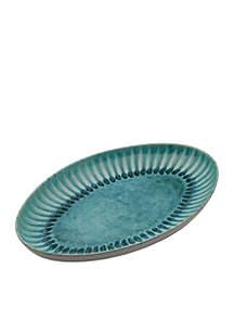 Mikasa Monterey Green Oval Platter