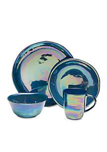 Coronado Cobalt 4-Piece Dinnerware Set