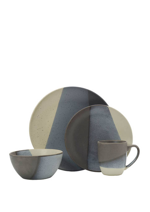 Brandi Gray 16 Piece Dinnerware Set
