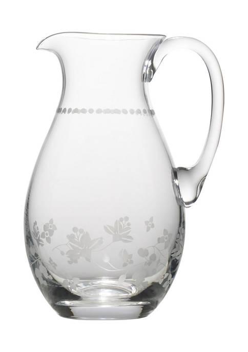 Mikasa Vintage Floral Glass Pitcher