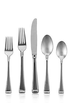 Column Frosted 5-Piece Place Setting