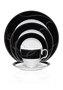 Noritake Platinum Wave Ebony Dinnerware