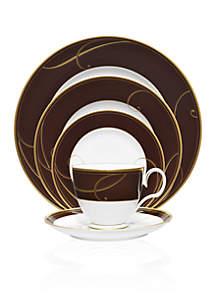 Noritake Golden Wave Chocolate Dinnerware