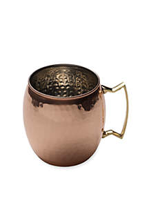Solid Copper Hammered Moscow Mule Mug