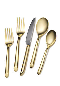 Towle Towle Living, 20-Piece Gold Wave Flatware Set