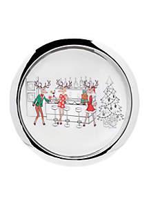 Reindeer Round Tray