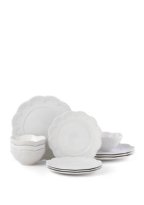 Lenox® Chelse Muse Floral 12 Piece Dinnerware Set