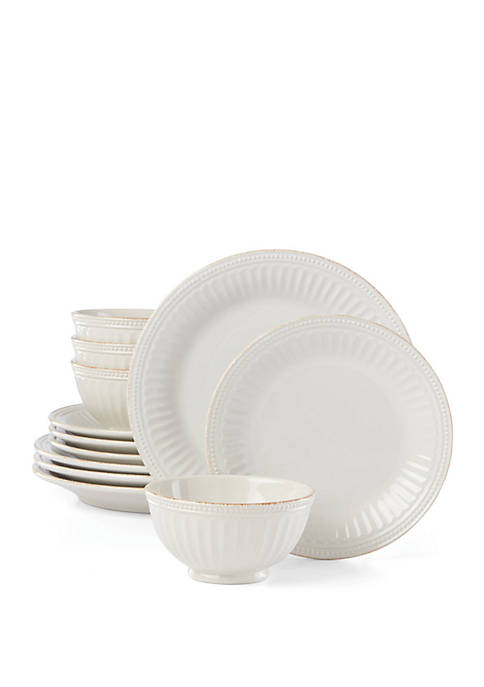Lenox® French Perle Groove 12 Piece Dinnerware Set