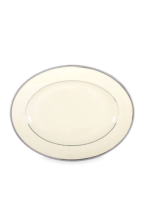 Lenox® Tuxedo Platinum Medium Oval Platter 13-in.
