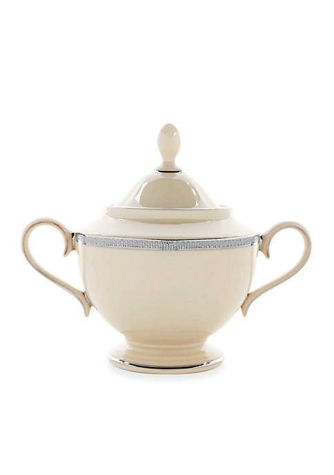 Lenox® Tuxedo Platinum Sugar Bowl 4.8-in.