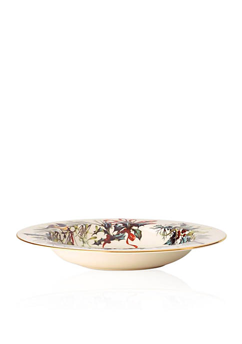 Lenox® Winter Greetings Rimmed Pasta/Soup Bowl