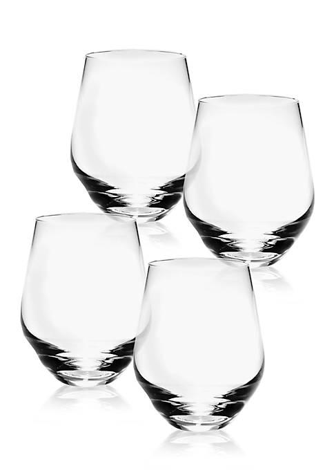 Tuscany Classics Stemless White Wine Glass Set of 4