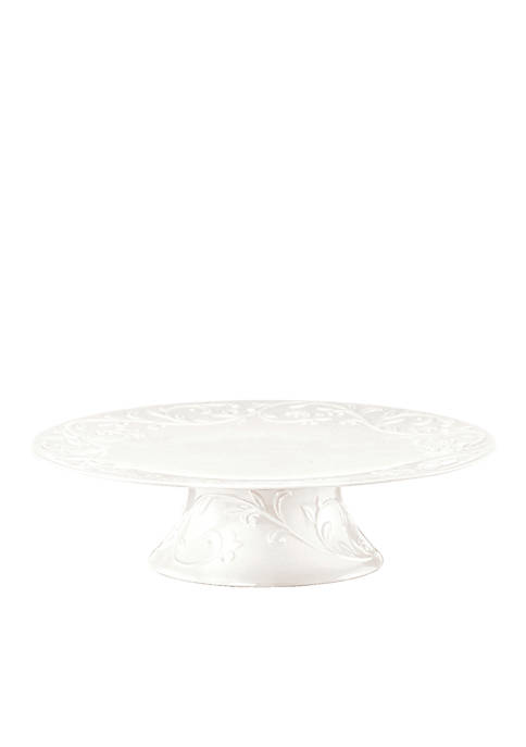 Lenox® Opal Innocence Carved Dinnerware Footed Cake Plate