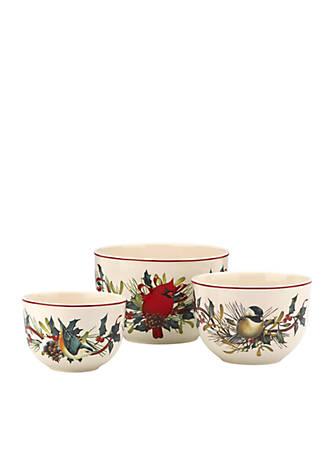 Lenox winter greetings nesting bowls set of 3 belk lenox winter greetings nesting bowls set of 3 m4hsunfo