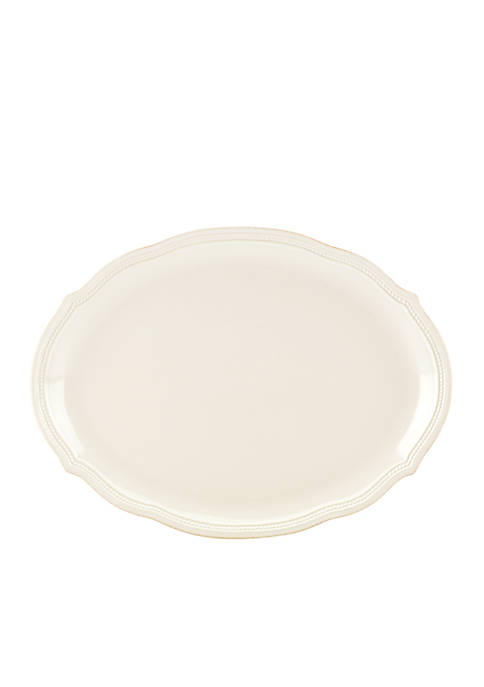 Lenox® French Perle Bead Oval Platter 16-in.