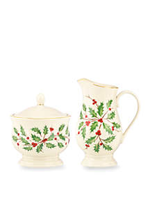 Holiday Sugar and Creamer Set