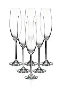 Tuscany Classics Flutes Set of 6 Champagne Glasses