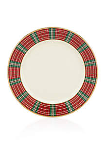 Winter Greetings Plaid Bread & Butter Plate