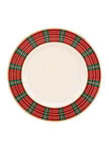 Winter Greetings Plaid Dinnerware