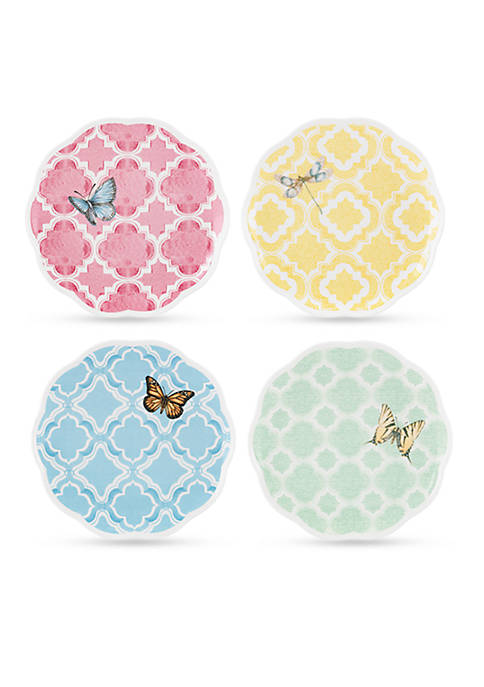 Lenox® Butterfly Meadow Trellis Set of 4 Dessert