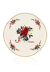 Winter Greetings Round Platter