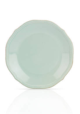 French Perle Bead Ice Blue Dinner Plate