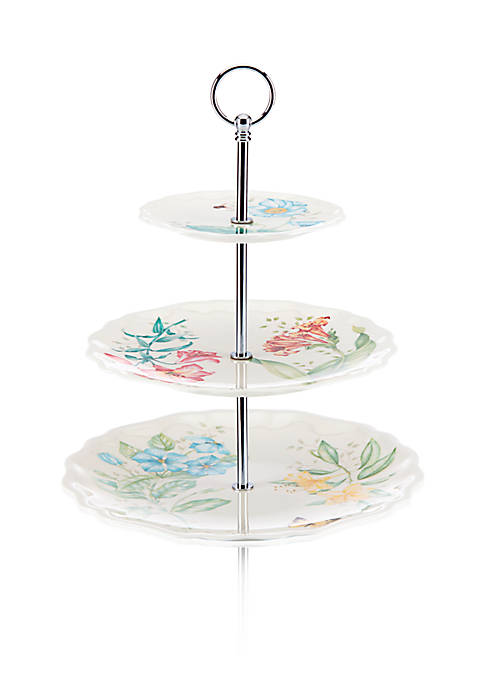 Lenox® Butterfly Meadow Melamine 3-Part Divided Server