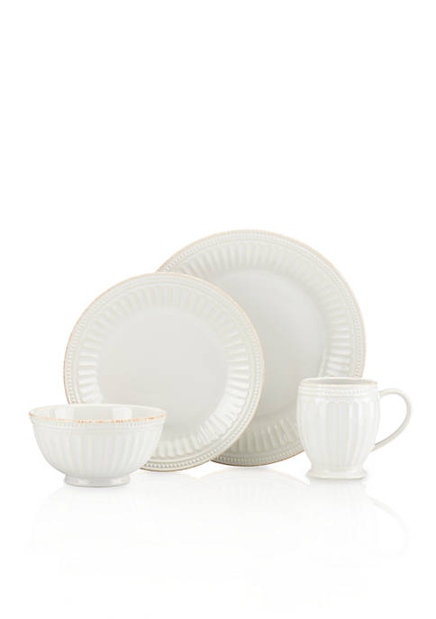 Lenox® French Perle Groove 4 piece Place Setting