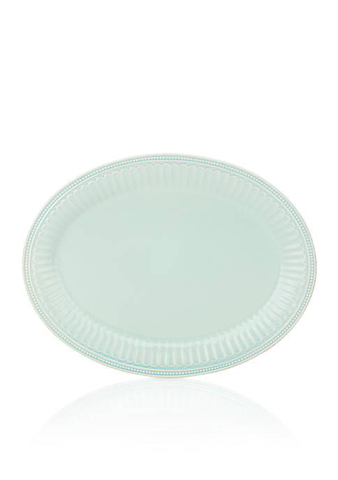 Lenox® French Perle Groove Blue Oval Plate