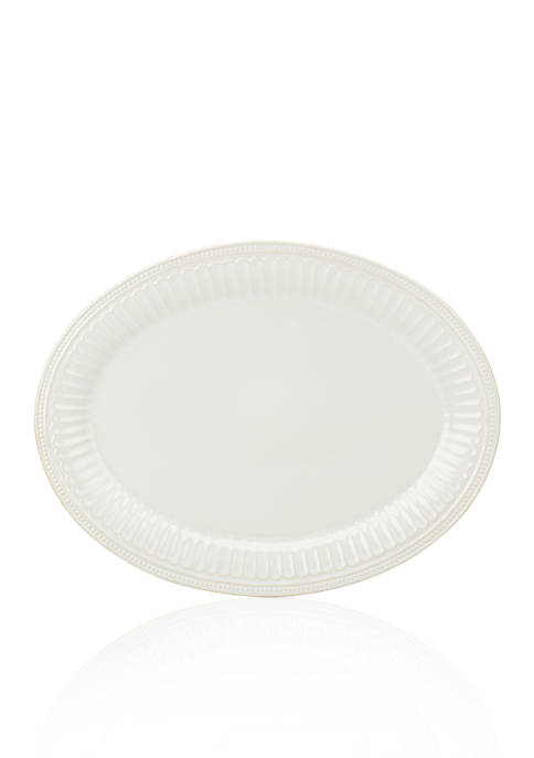 Lenox® French Perle Groove White Serving Platter