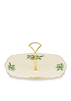 Lenox® Holiday Archive Dessert Plate with Metal Handle