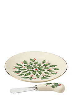 Lenox® Holiday Cheese Plate and Knife Set