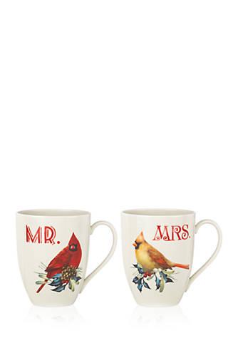 Lenox winter greetings mr mrs 2 piece mug set belk lenox winter greetings mr mrs 2 piece mug set m4hsunfo