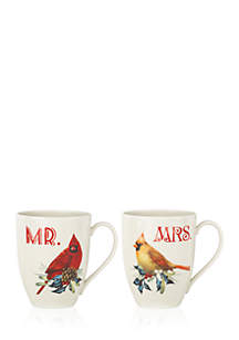 Winter Greetings Mr. & Mrs. 2-piece Mug Set