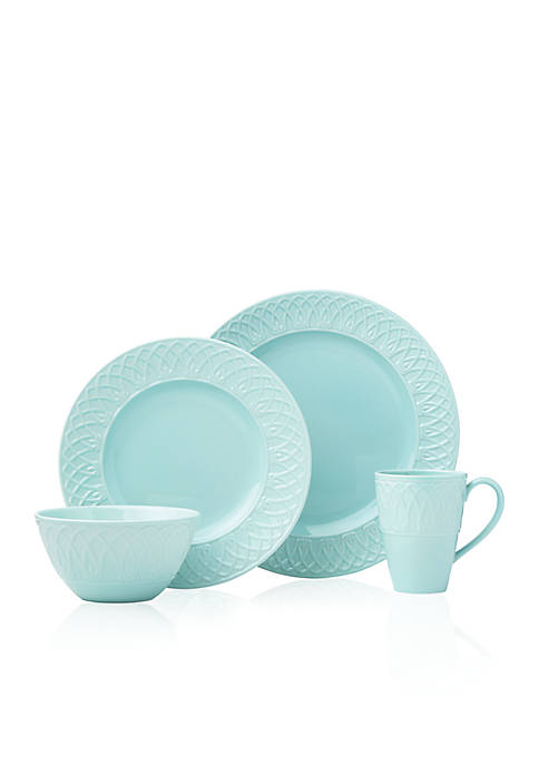 Lenox® British Colonial Carved Aqua 4-Piece Place Setting