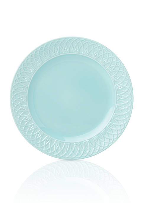Lenox® British Colonial Carved Aqua Dinner Plate
