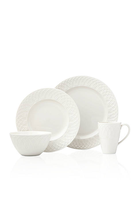 Lenox® British Colonial Curved White 4-Piece Place Setting