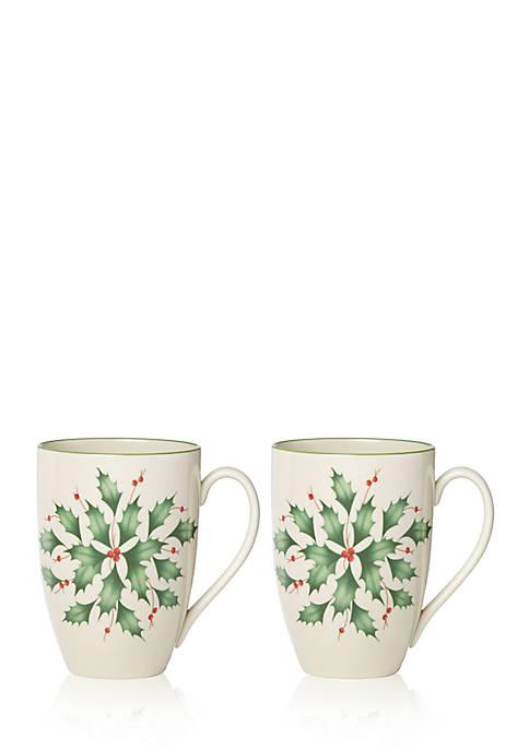 Lenox® Holly Mug Set