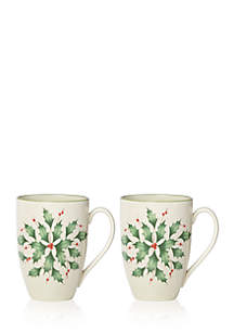 Holly Mug Set
