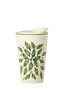 Holiday Porcelain Top Travel Mug