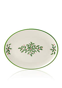 Holiday Melamine Oval Tray