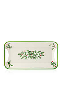Holiday Melamine Tray with Handles