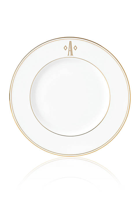 Federal Gold Block Monogram Accent Plate
