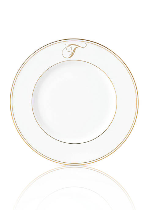 Lenox® Federal Gold Script Monogram Accent Plate