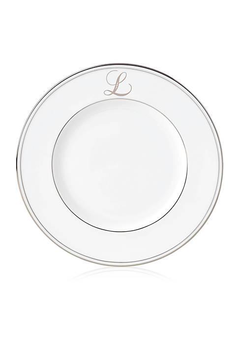 Federal Platinum Script Monogram Accent Plate