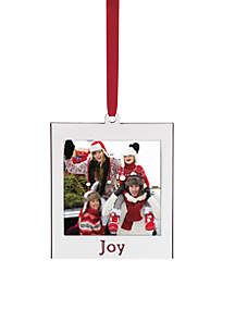 joy silver picture frame ornament - Boston Terrier Outdoor Christmas Decoration