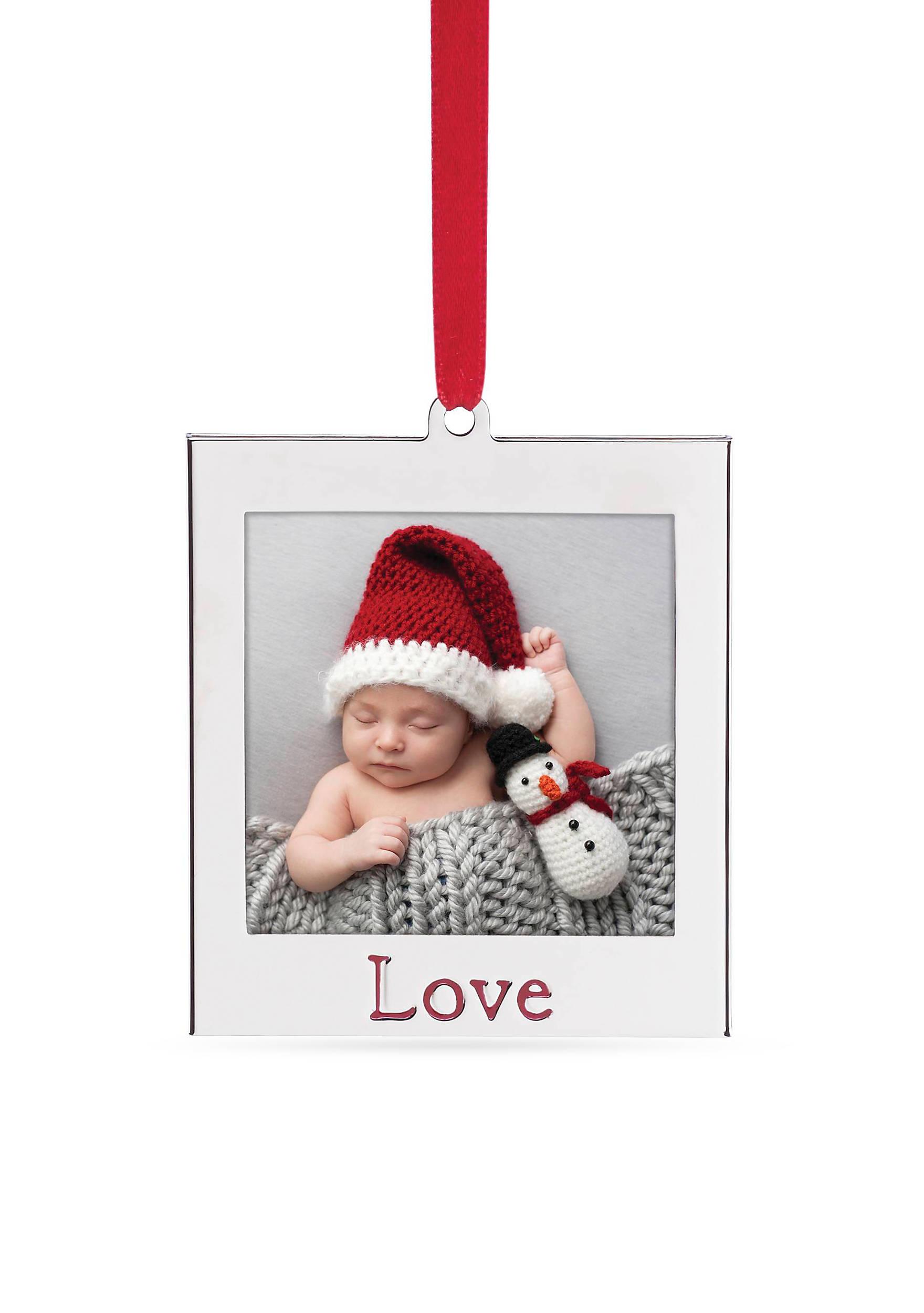 Lenox love silver picture frame ornament belk images jeuxipadfo Image collections