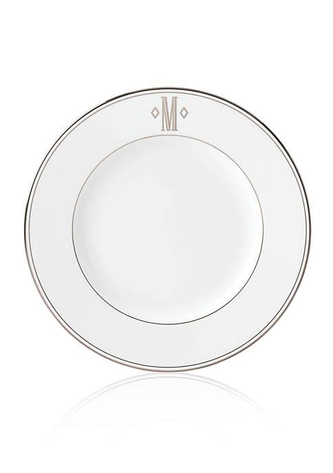 Lenox® Federal Platinum Block Monogram Dinner Plate