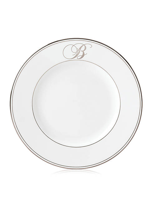 Lenox® Federal Platinum Script Monogram Dinner Plate